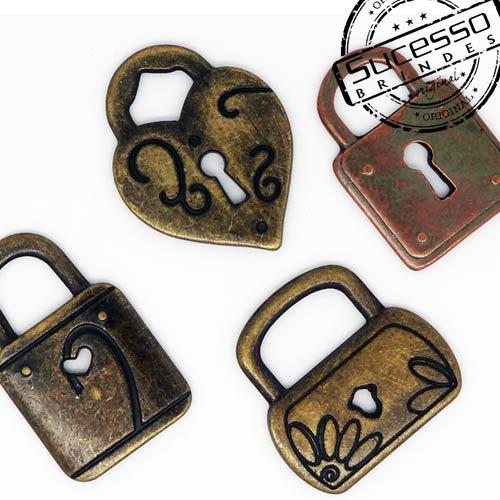 Pingente personalizado cadeados fechadura, chave