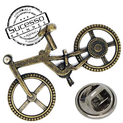 Pin em metal envelhecido rústico com gravação em relevo, broche em metal, pin de lapela, broche metálico bicicleta
