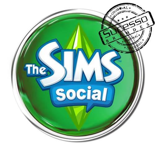 Pin em Metal Adesivado, Modelos padrão, broche, redondo, game, jogo, The Sims