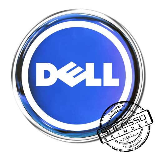 Pin em Metal Adesivado, Modelos padrão, broche, redondo, Computador, Dell, Informática