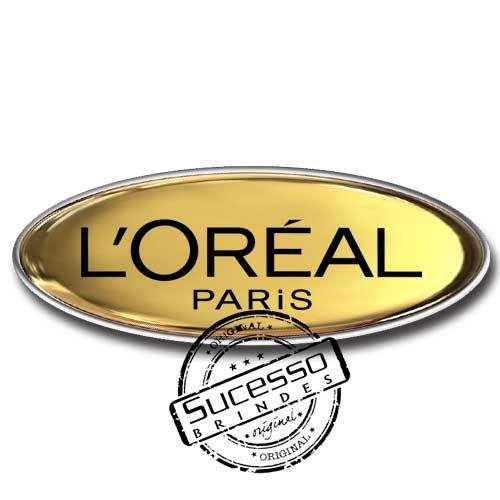 Pin em Metal Adesivado, Modelos padrão, broche, oval, Cosmético, Loreal, Paris
