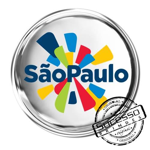 Pin em Metal Adesivado, Modelos padrão, broche, redondo, São Paulo