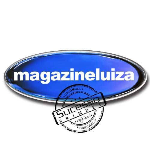 Pin em Metal Adesivado, Modelos padrão, broche, oval, Magazine Luiza, Loja, Eletrodomésticos