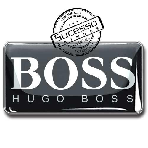 Pin em Metal Adesivado, Modelos padrão, broche, retangular, Perfume, Hugo Boss