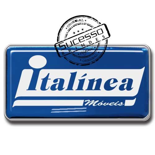 Pin em Metal Adesivado, Modelos padrão, broche, retangular, móveis, Italínea