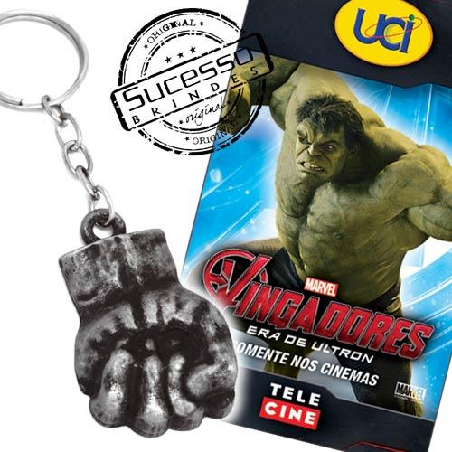 Projeto Especial cinema, filme, movie, brinde para cinemabrindes, os vingadores, avengers, uci, chaveiro, hulk