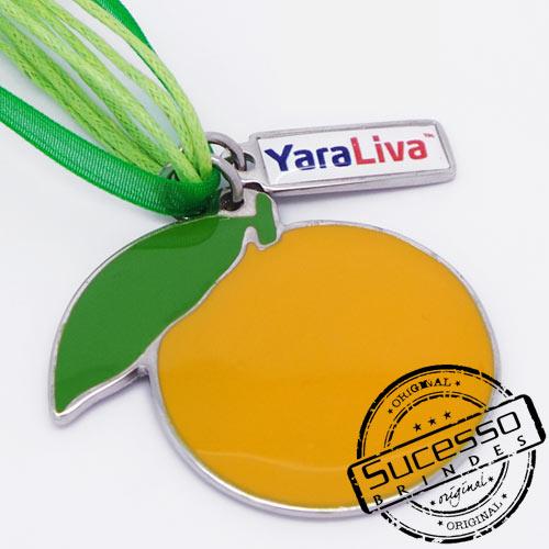 Colar, Cordão ou corrente com pingente personalizado fruta laranja YaraLiva