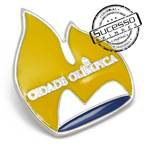 Pin Esmaltado ou Resinado em metal de Lapela, botton, broche com alfinete, com trava borboleta personalizado, fogo, foqueira, chama