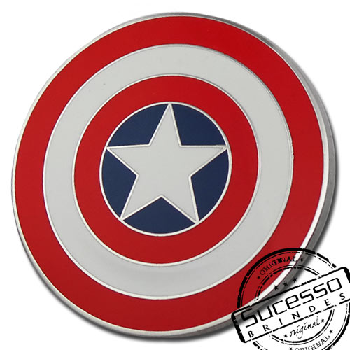 Pin Esmaltado ou Resinado em metal de Lapela, botton, broche com alfinete, com trava borboleta personalizado filme capitão américa