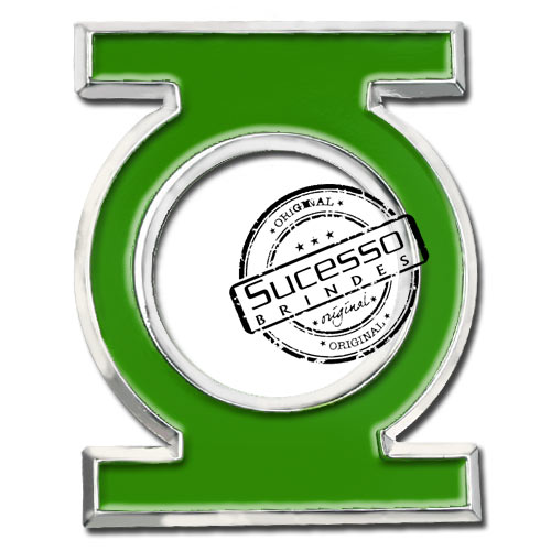 Pin esmaltado em metal de Lapela, botton, broche com alfinete, com trava borboleta personalizado filme lanterna verde, Lanterna Verde, Marvel