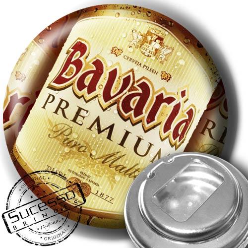 Botton Abridor de Garrafa Cerveja Bavária