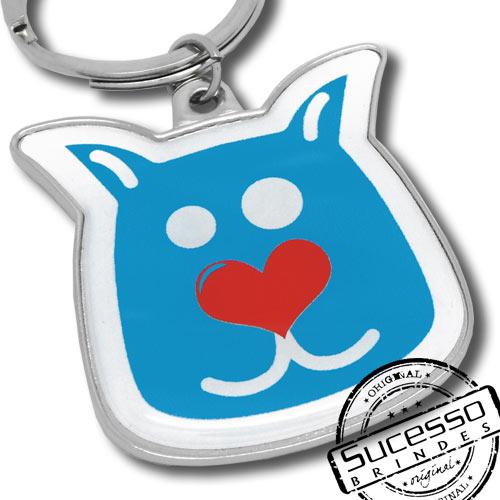 Chaveiro em metal adesivado Pet ou Petshop, cachorro Virbac