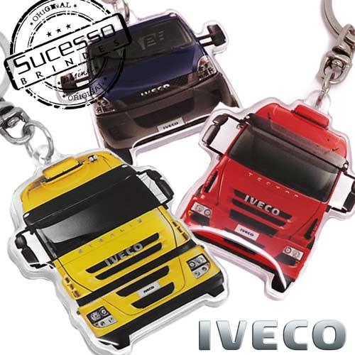Chaveiro em acrílico carro, veículos, automóveis, transporte, caminhões ou utilitários Iveco