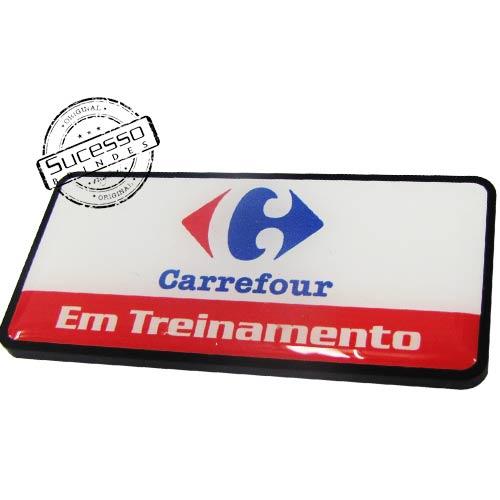 Crachá em Acrílico com Logo e Alfinete, Adesivado