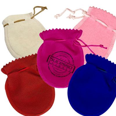Embalagem Saquinho de Veludo para Presente, Brindes, Pen drive, Bijuteria, Semi-joia, Colar, Brinco, Chaveiro