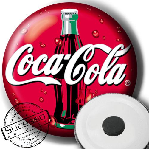 botton, imã, coca cola, refrigerante, vermelho