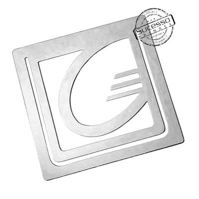 Marcador de Página em Aço Fotocorrosão no Formato do Logo