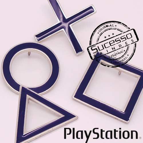 Pin Esmaltado ou Resinado em metal de Lapela, botton, broche com alfinete, com trava borboleta personalizado Play Station ícones
