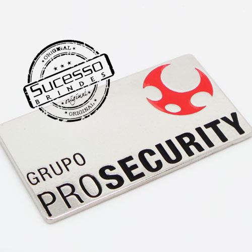 Pin Esmaltado ou Resinado em metal de Lapela, botton, broche com alfinete, com trava borboleta personalizado Prosecurity, segurança