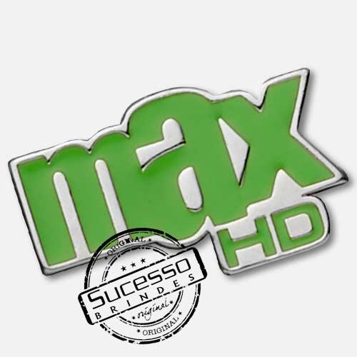 Pin Esmaltado ou Resinado em metal de Lapela, botton, broche com alfinete, com trava borboleta personalizado tv net max hd, tv, televisão, canal