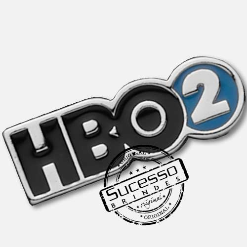 Pin Esmaltado ou Resinado em metal de Lapela, botton, broche com alfinete, com trava borboleta personalizado, Hbo, tv, televisão, net, tv a cabo, Hbo 2