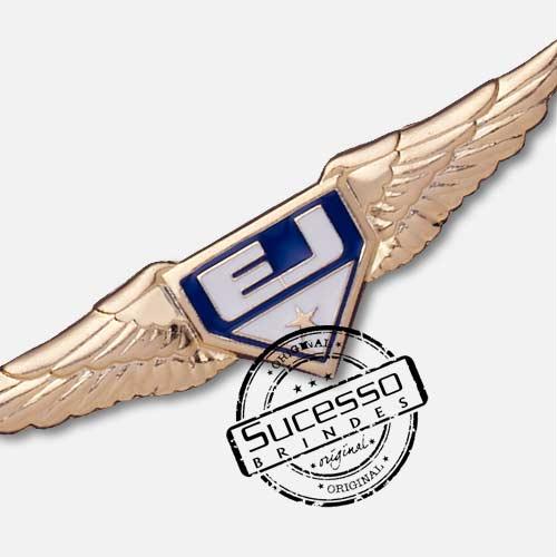 Pin Esmaltado ou Resinado em metal de Lapela, botton, broche com alfinete, com trava borboleta personalizado para cia aérea avião