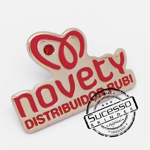 Pin Esmaltado ou Resinado em metal de Lapela, botton, broche com alfinete, com trava borboleta personalizado, Novety, Distribuidor