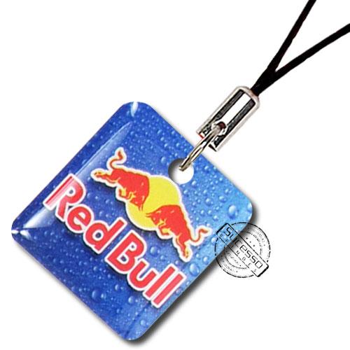 Pingente ou Piercing para Celular Flexível Red bull