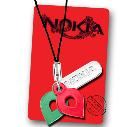 Pingente e Piercing para Celular em Metal Nokia