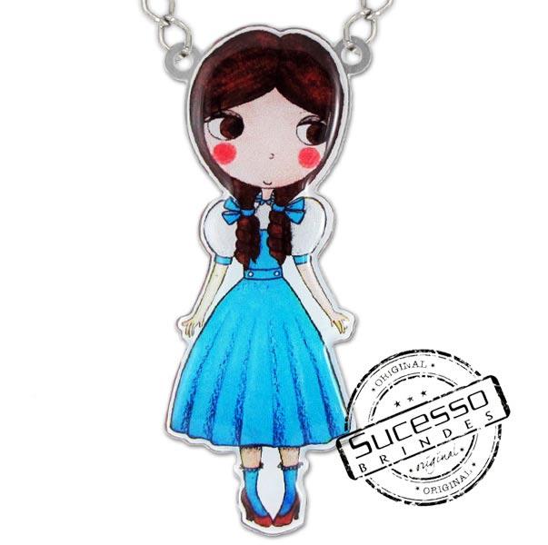 Colar Alice Disse Bijuteria personalizada, princesa, boneca, personagem,, bijuteria personalizada, pingente