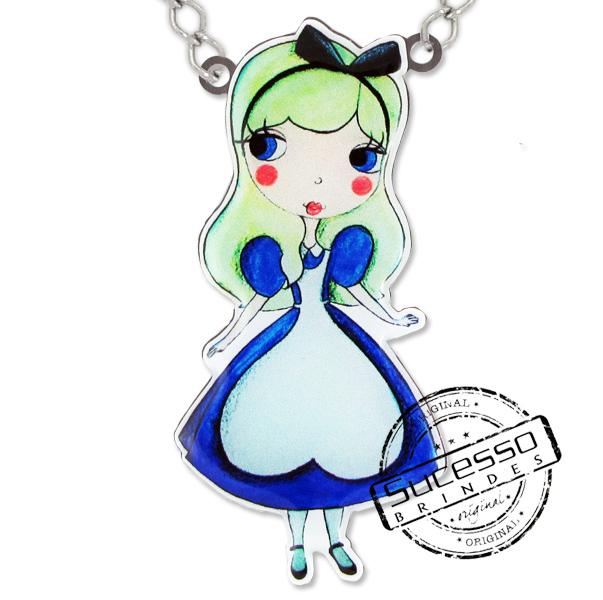 Colar Alice Disse Bijuteria personalizada, princesa, boneca, personagem, alice, bijuteria personalizada, pingente