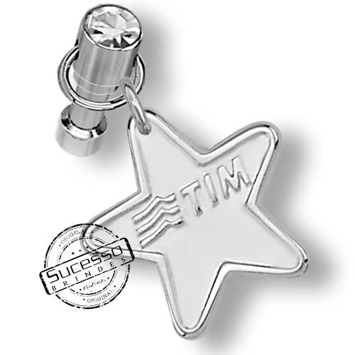 Pingente Piercing para Celular Estrela