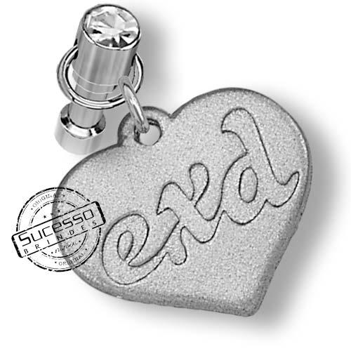 Pingente Piercing para Celular Coração