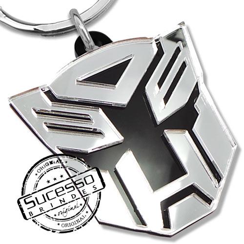 Chaveiro em acrílico cortado a laser, brinde, promocional, personalizado, logo ou logomarca filme Homem de Ferro