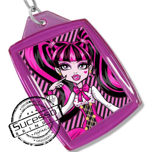 Chaveiro, Chaveiros porta foto 3X4, para fotografia, personalizado desenho Monster High, rosa