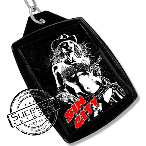 Chaveiro, Chaveiros porta foto 3X4, para fotografia, personalizado filme Sin City, preto