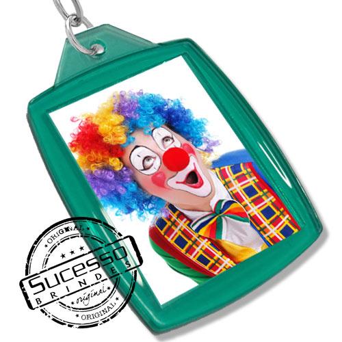 Chaveiro, Chaveiros porta foto 3X4, para fotografia, personalizado infantil, kids, criança, palhaço, verde
