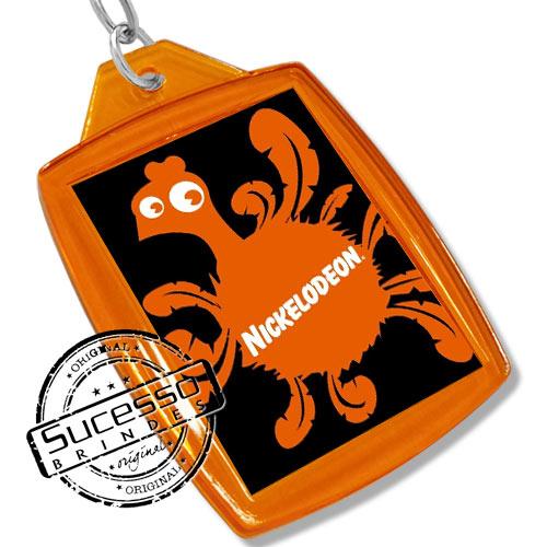 Chaveiro, Chaveiros porta foto 3X4, para fotografia, personalizado Nickelodeon laranja
