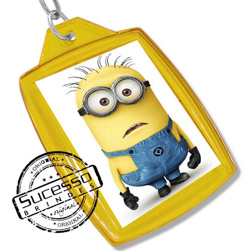 Chaveiro, Chaveiros porta foto 3X4, para fotografia, personalizado filme, desenho meu malvado favorito amarelo