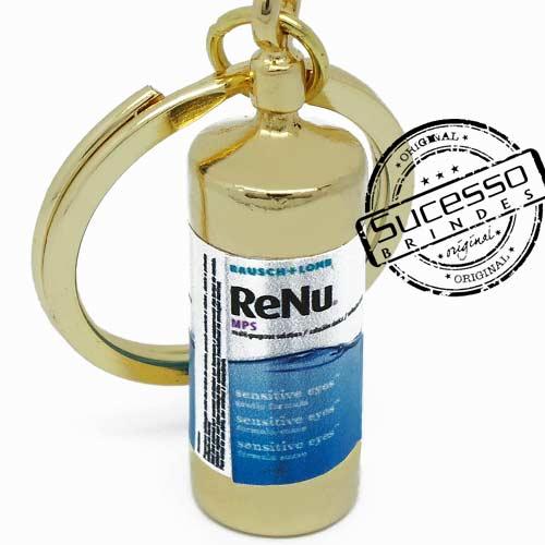 Chaveiro 3d réplica miniatura de renu para limpar lente de contato
