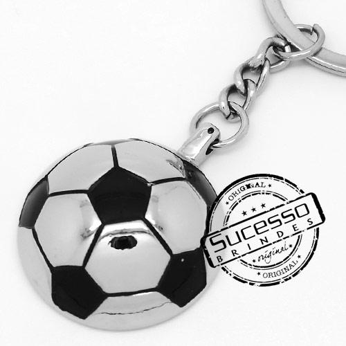 Chaveiro em metal 3D bola de futebol