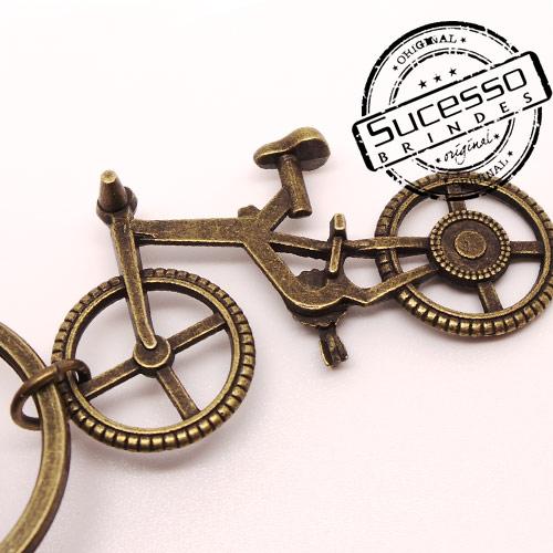 Chaveiro em metal 3D bicicleta bike