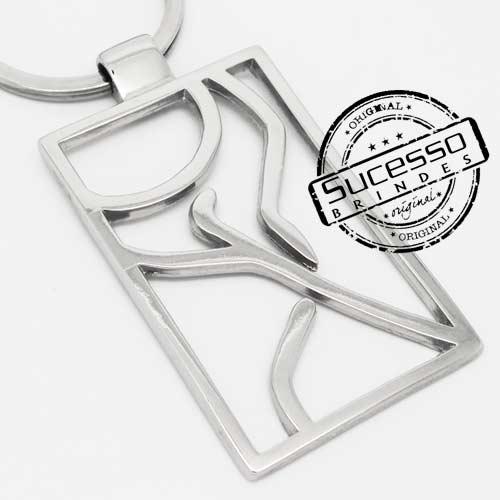 Chaveiro em metal 3D Pilates