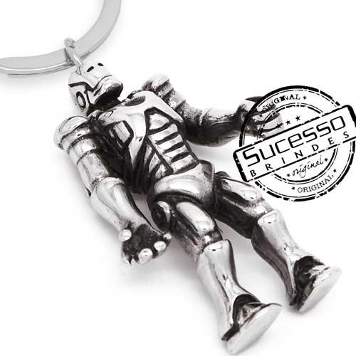 Chaveiro 3d réplica em metal robo filme Homem de Ferro