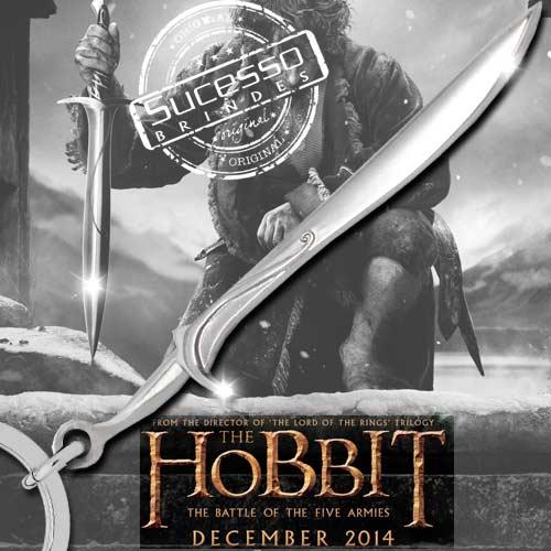 Chaveiro 3d réplica em metal espada arma filme hobbit