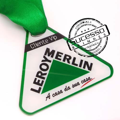 Medalha em acrílico para premiação de competições Leroy Merlin