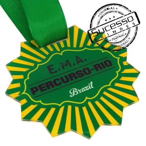 Medalha em acrílico para premiação de competições Ema Brasil