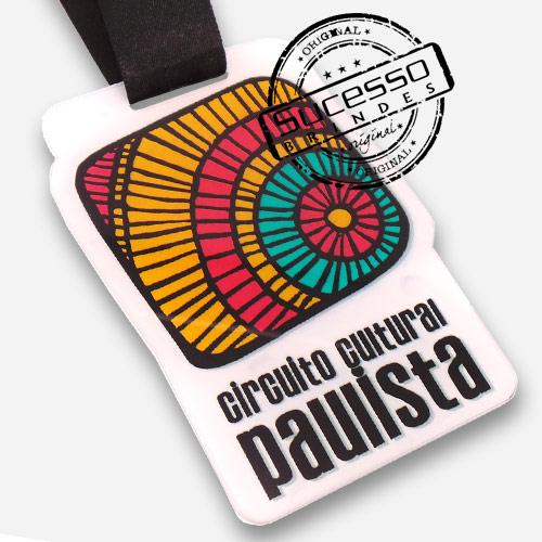 Medalha em acrílico para premiação de competições Circuito Cultural Paulista