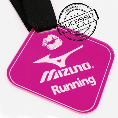 Medalha em acrílico para premiação de competições Mizuno Running