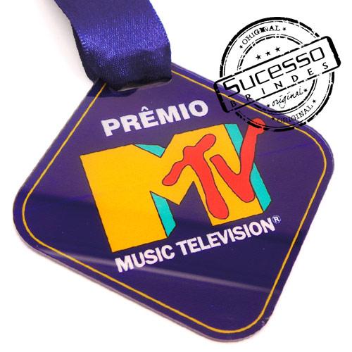 Medalha em acrílico para premiação de competições MTV